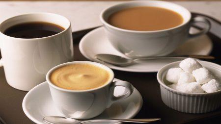 coffee, cups, black