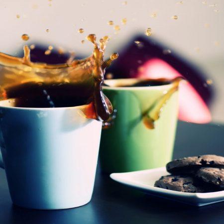 coffee, glasses, splashes