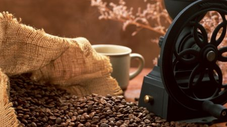 coffee, grains, coffee grinder