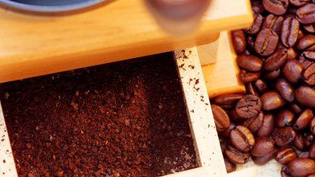 coffee grinder, grains, coffee