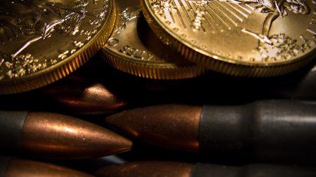 coins, macro, bullets