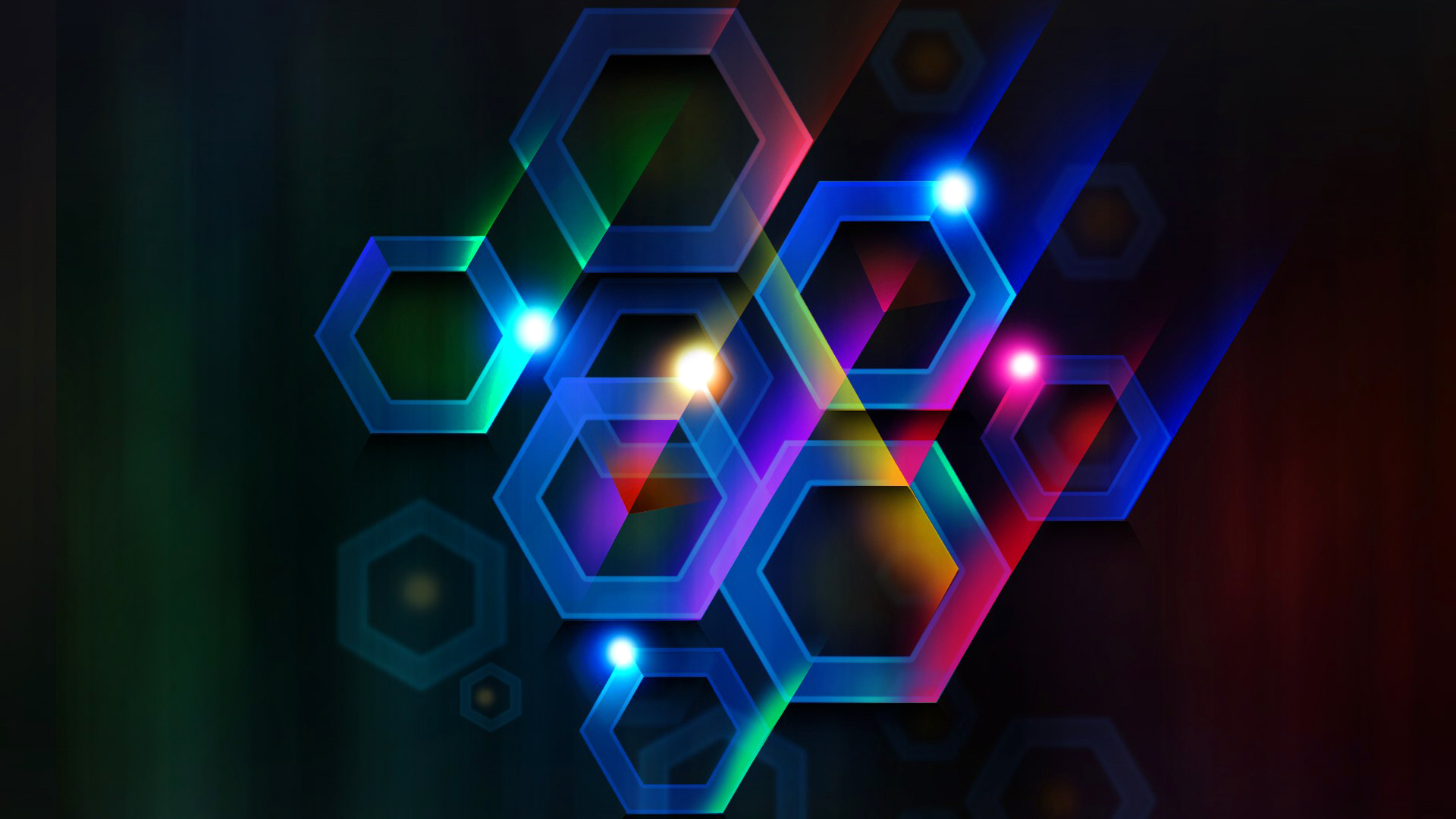 Earnings Disclaimer >> Download Wallpaper 1920x1080 color, hexagon, cell, volume ...