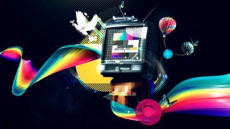 colorful, monitor, error