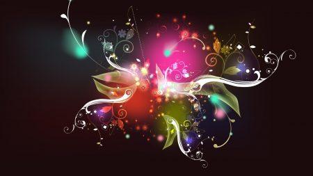 colorful, patterns, dark
