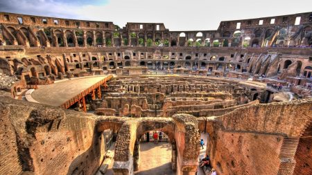 colosseum, inside view, stone