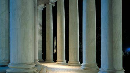 columns, city, building