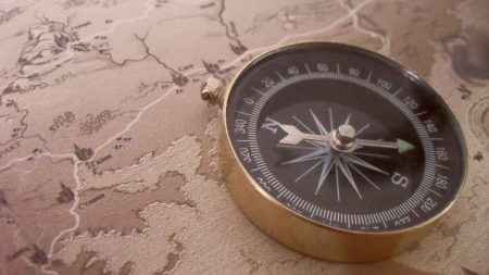 compass, direction, trip