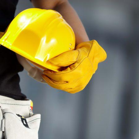construction, helmet, arm
