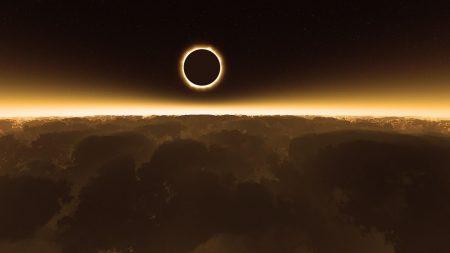 cosmos, sun, eclipse