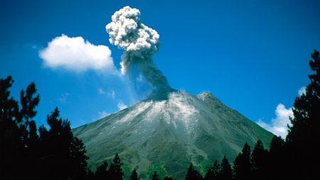 costa rika, volcano, eruption