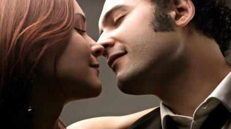 couple, affection, kiss