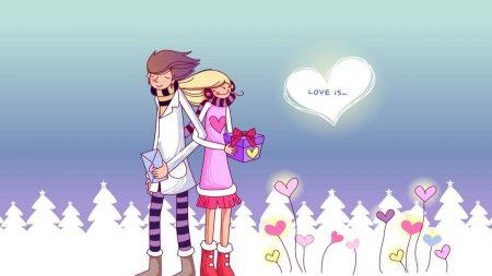 couple, love, gift