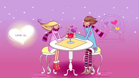 couple, love, table