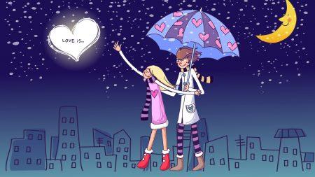 couple, love, walk