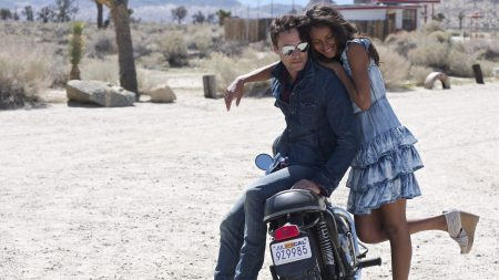 couple, motorcycle, hugging