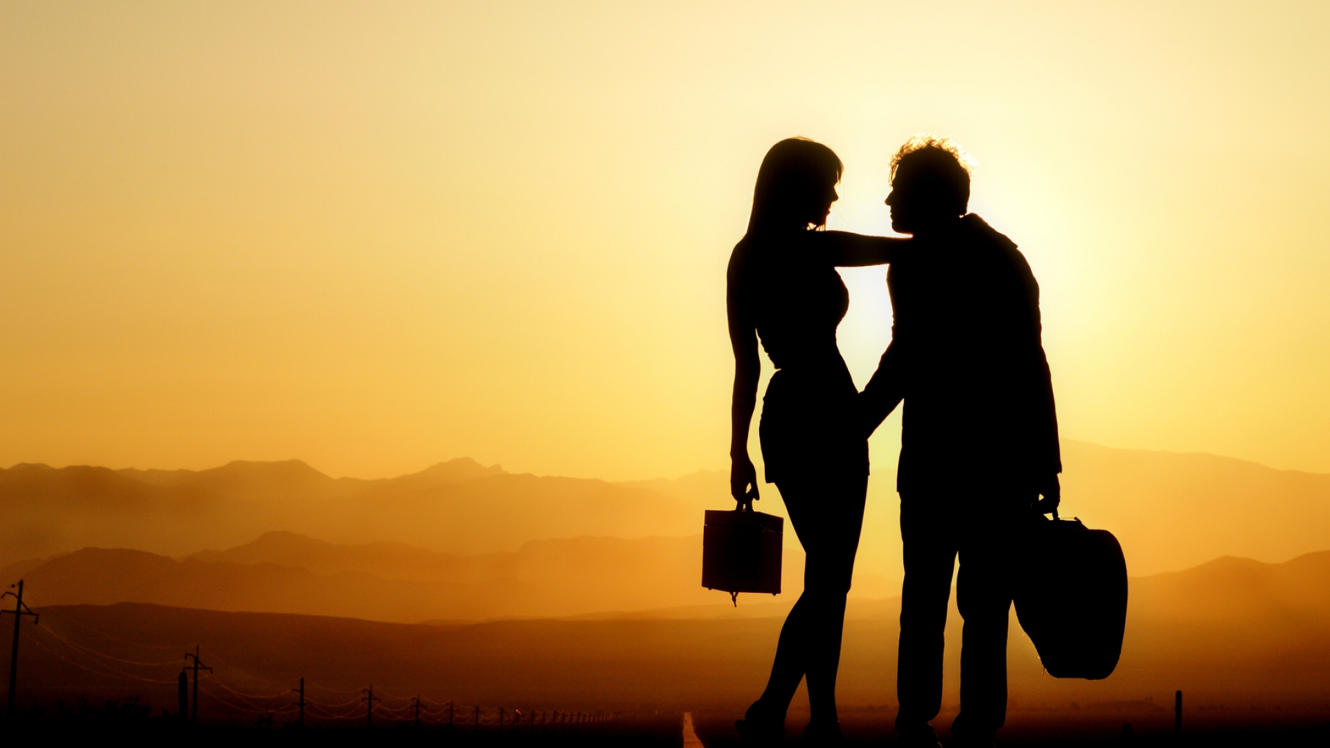 Download Wallpaper 1920x1080 Couple Silhouette Shadow Love Full Hd 1080p Hd Background