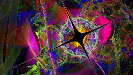 cracks, bright, colorful