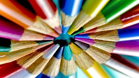 crayons, colored, set