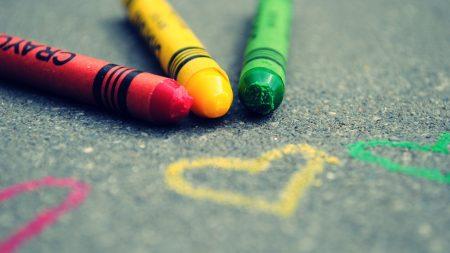 crayons, pencil, drawing