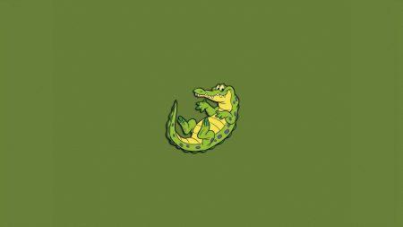 crocodile, lizard-eyed, big-eared