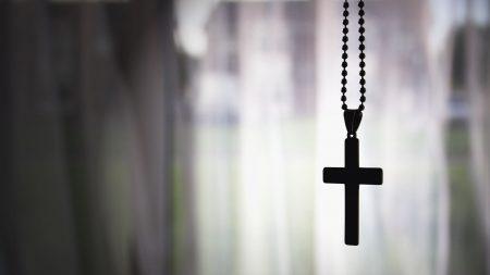cross, pendant, chain