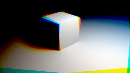 cube, light, shadow