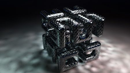 cube, shape, metal