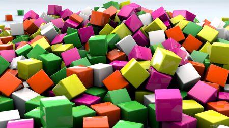 cubes, 3d, art