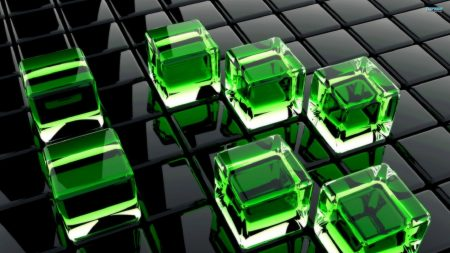 cubes, glass, surface