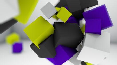 cubes, light, bright