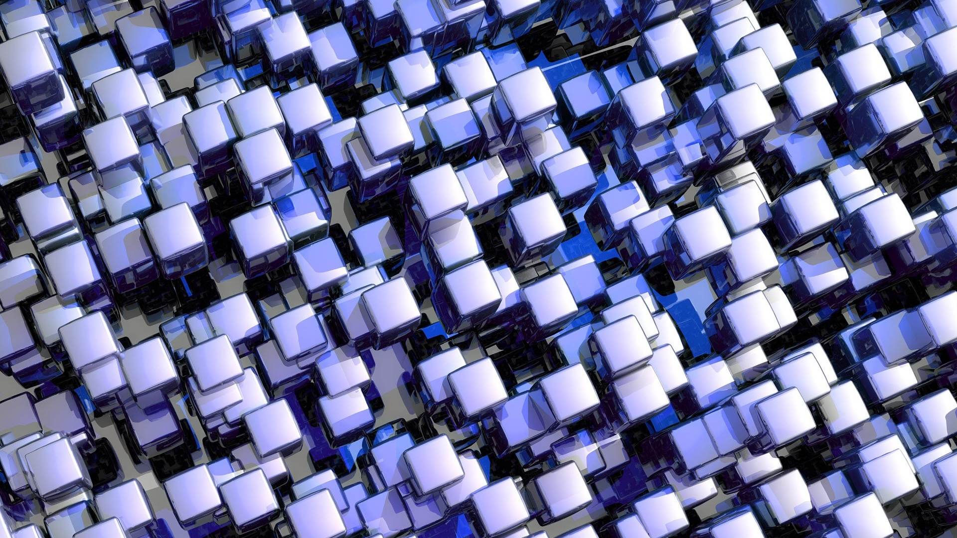 Download Wallpaper 1920x1080 Cubes Purple Glass Set