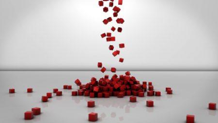 cubes, red, set
