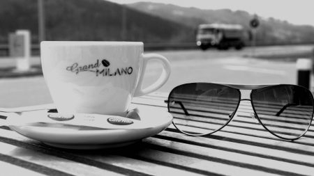 cup, coffee, glasses