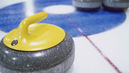 curling, ice, marking