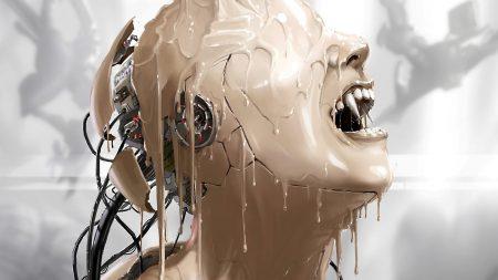 cyborg, paint, robot