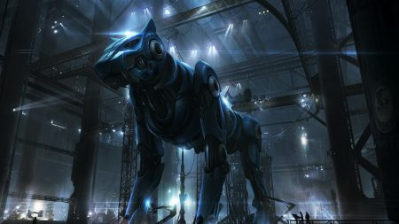 cyborg, robot, dog