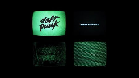 daft punk, tv set, background