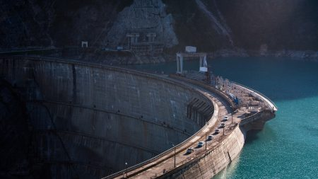 dam, road, transport