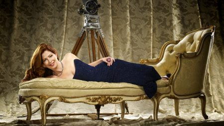 dana delany, red-haired, dress