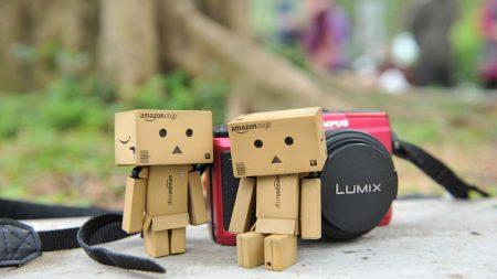 danboard, camera, cardboard robots