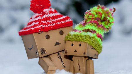 danboard, cardboard robots, hats