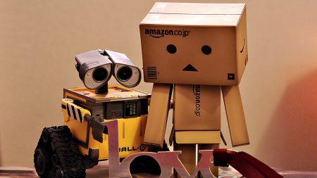 danboard, wall-e, boxes