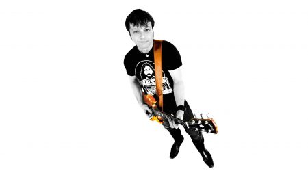 daniel boucher, guitar, t-shirt