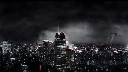 dark city, night, fantasy