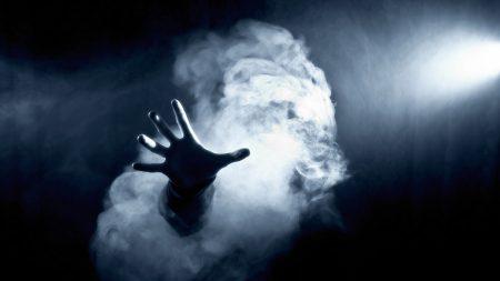 dark, hand, smoke
