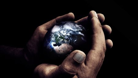 dark, planet, hands