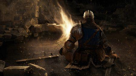 dark souls, bonfire, sword
