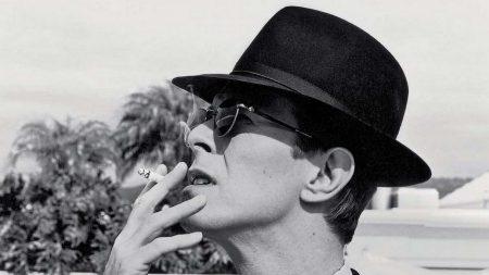david bowie, hat, cigarette