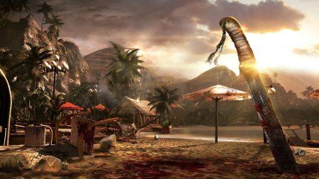 dead island, knife, blood