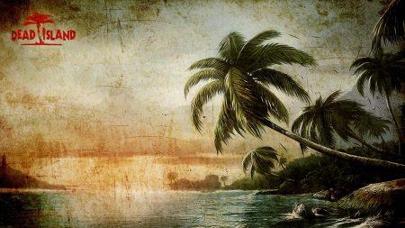 dead island, palms, waves